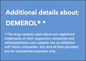 get more details about demerol